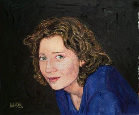 Art: Portrait of Tabatha Rhodes by Artist Margaret Crowley-Kiggins