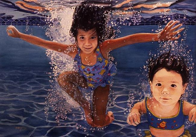 Art: Little Mermaids by Artist Margaret Crowley-Kiggins