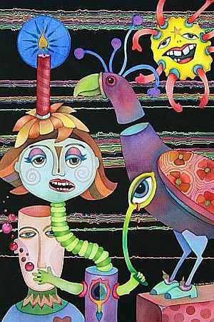 Art: Bobolink by Artist Lori Rase Hall