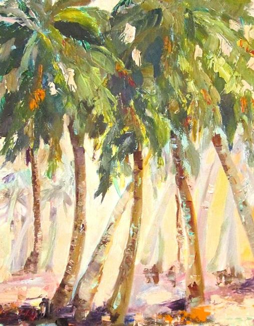 Art: Tropical Abstract by Artist Delilah Smith
