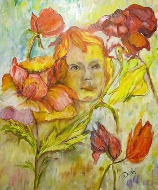 Art: Girl of the Roses by Artist Delilah Smith