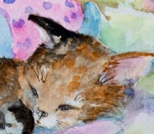 Detail Image for art Two Sleeping Kitten