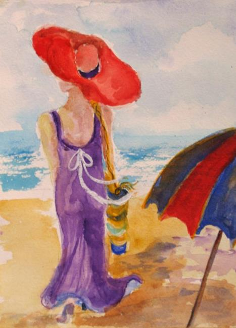 Art: A Walk on the Beach by Artist Delilah Smith