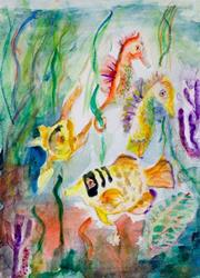 Art: Under the Sea, SOLD by Artist Delilah Smith