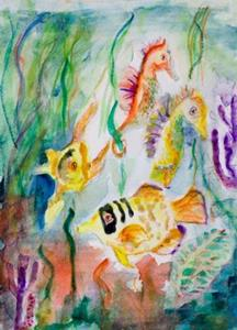 Detail Image for art Under the Sea, SOLD