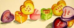 Art: Conversational Hearts by Artist Delilah Smith