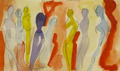 Art: Abstract Nudes-sold by Artist Delilah Smith