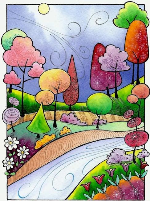 Art: Late Summer Breeze by Artist Sandra Willard