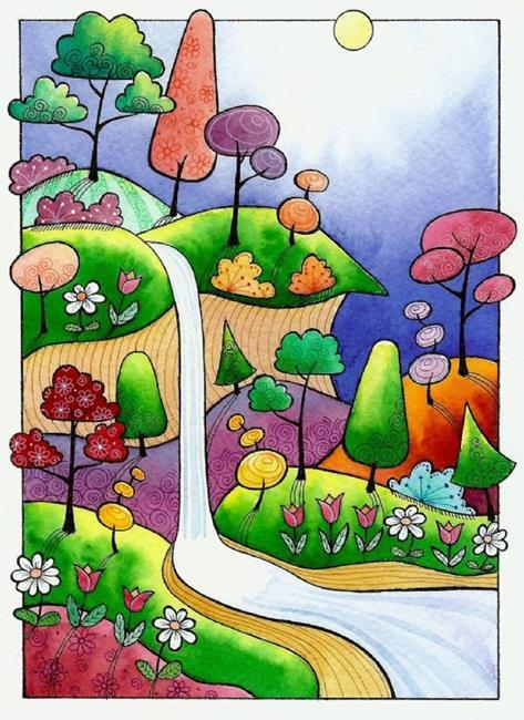 Art: Mesa Waterfall by Artist Sandra Willard
