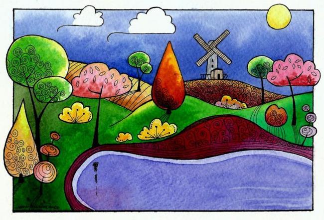Art: Windmill by Artist Sandra Willard