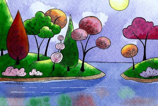 Art: Two islands by Artist Sandra Willard