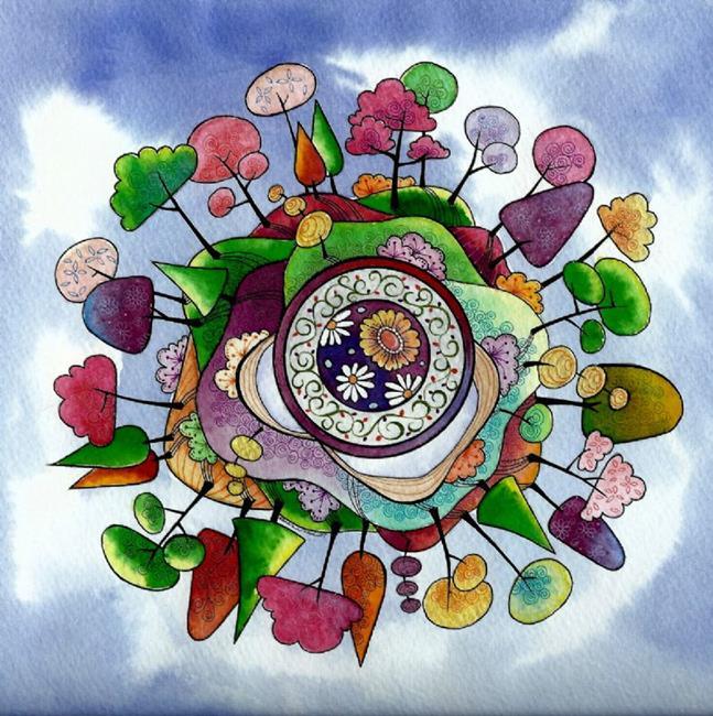 Art: Paradise Planet by Artist Sandra Willard
