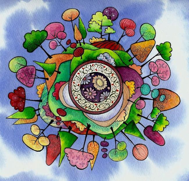 Art: Paradise Planet II by Artist Sandra Willard
