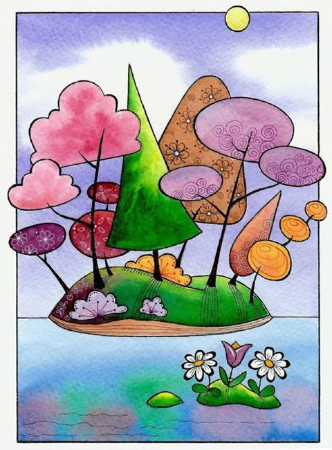 Art: Undiscovered Isle by Artist Sandra Willard
