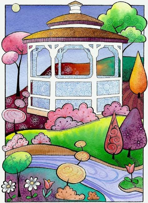 Art: Gazebo by Artist Sandra Willard
