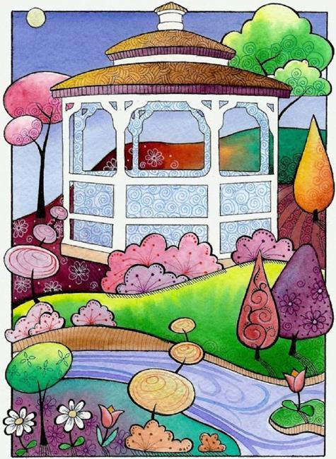 Art: Gazebo by Artist Sandra Willard