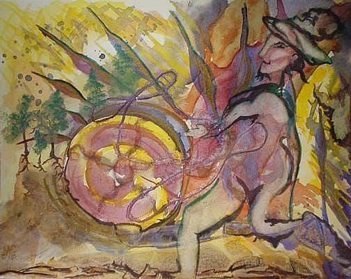 Art: Rumpelstiltskin's Cradle by Artist Caroline Lassovszky Baker