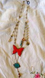 Art: Butterfly necklace.jpg by Artist Shawn Marie Hardy