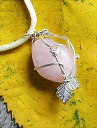 Art: Pink Auctions Pendant by Artist Cathy  (Kate) Johnson