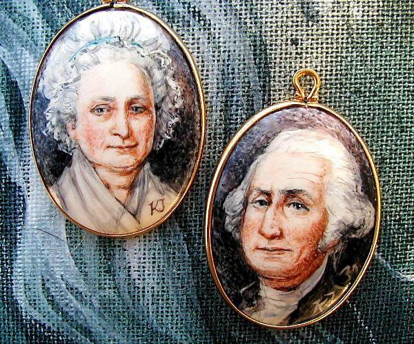 "George and Martha Washington by EBSQ Artist Cathy ""Kate"" Johnson"