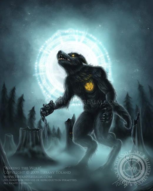 Art: Waking the Wolf by Artist Tiffany Toland-Scott