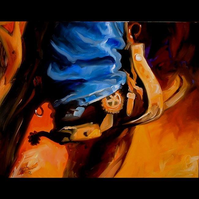 Art: HORSEBACK by Artist Marcia Baldwin