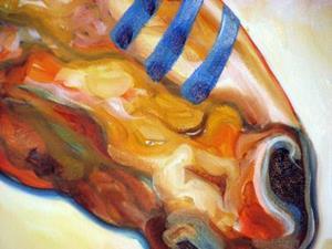 Detail Image for art INDIAN WAR HORSE the GOLDEN SUN