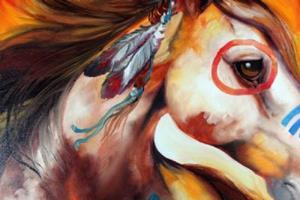 Detail Image for art WINDFIRE WARRIOR ~ INDIAN WAR PONY