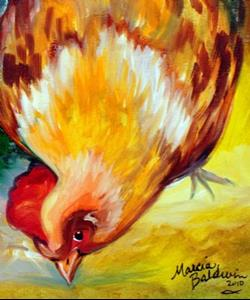 Detail Image for art ROOSTER & HEN PECK