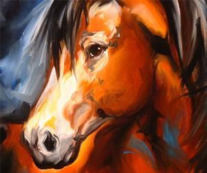 Detail Image for art CHESTNUT MUSTANG