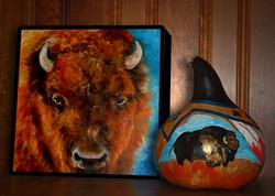 Art: WILD WEST BUFFALO by Artist Marcia Baldwin