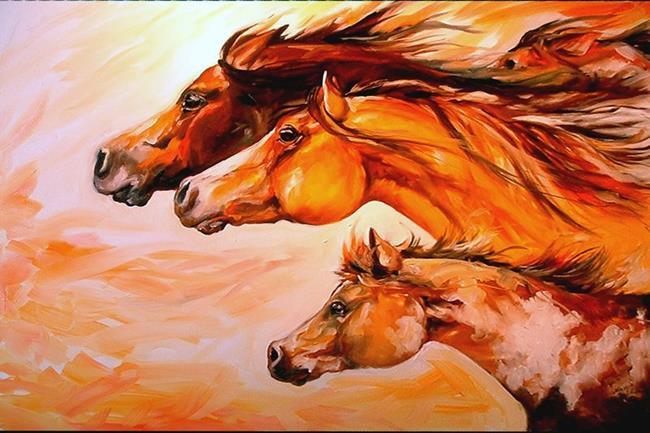 Art: BORN TO RUN by Artist Marcia Baldwin