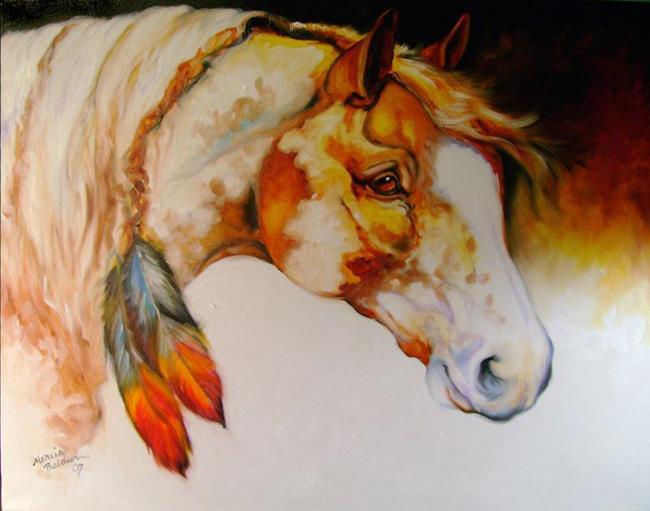 Art: CLOUD the INDIAN WARRIOR by Artist Marcia Baldwin