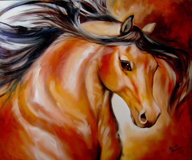 Art: BUCKSKIN by Artist Marcia Baldwin
