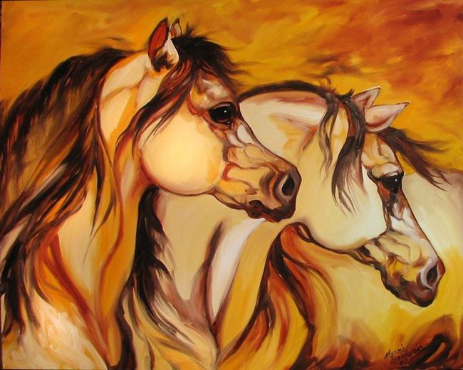 Art: WILD MUSTANGS by Artist Marcia Baldwin