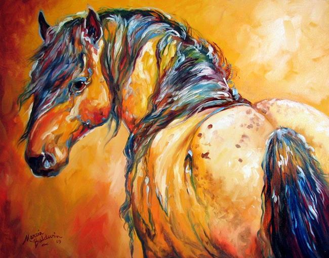 Art: MUSTANG APPALOOSA by Artist Marcia Baldwin