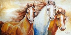 Art: WILD HORSES by Artist Marcia Baldwin