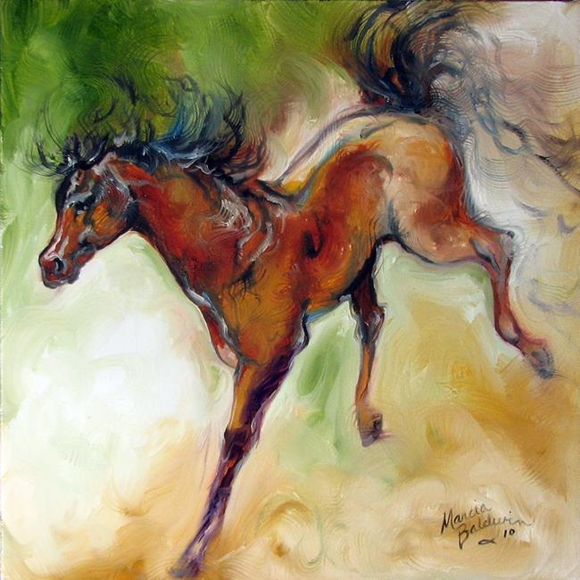 Art: BRONCO BUCKING by Artist Marcia Baldwin