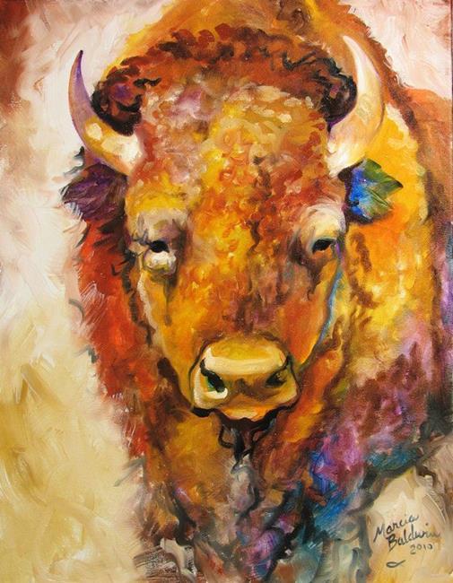 Art: WILD WEST BUFFALO by Artist Marcia Baldwin