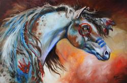 Art: THE GREAT ONE ~ INDIAN WAR HORSE by Artist Marcia Baldwin
