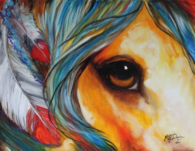 Art: SPIRIT EYE INDIAN WAR HORSE by Artist Marcia Baldwin