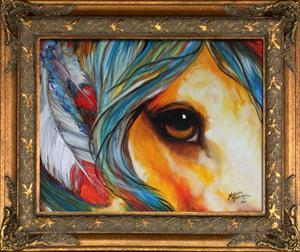 Detail Image for art SPIRIT EYE INDIAN WAR HORSE