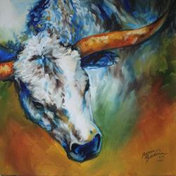 Art: TEXAS LONGHORN 18 by Artist Marcia Baldwin