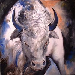 Art: Miracle-The White Buffalo by Artist Marcia Baldwin