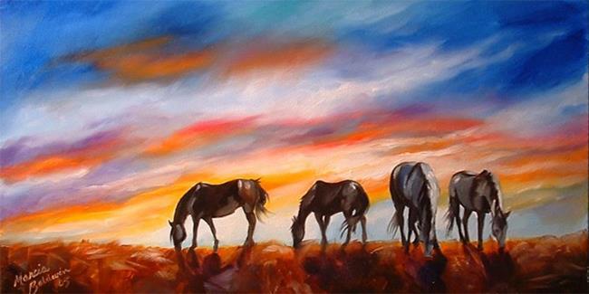 Art: SPIRIT GRAZING by Artist Marcia Baldwin