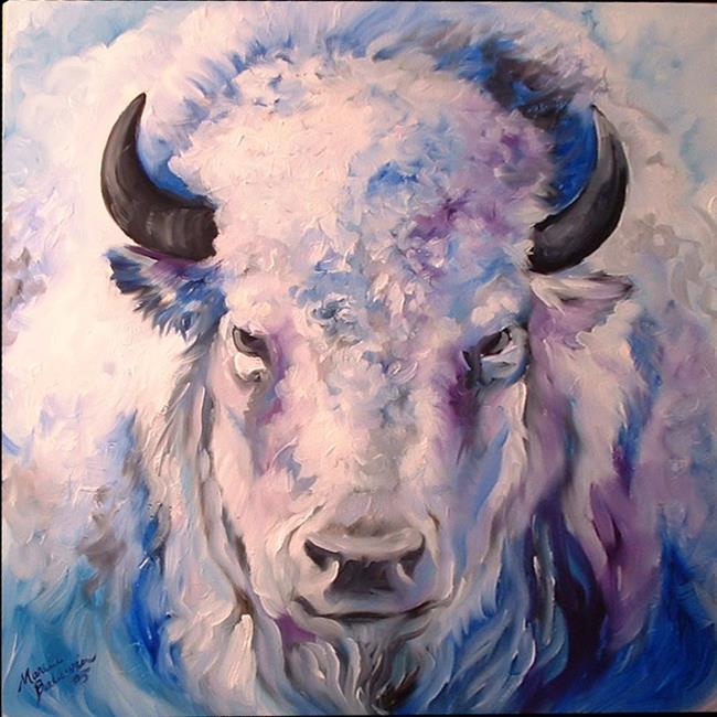 Art: WHITE BUFFALO by Artist Marcia Baldwin