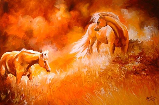 Art: PALOMINOS by Artist Marcia Baldwin