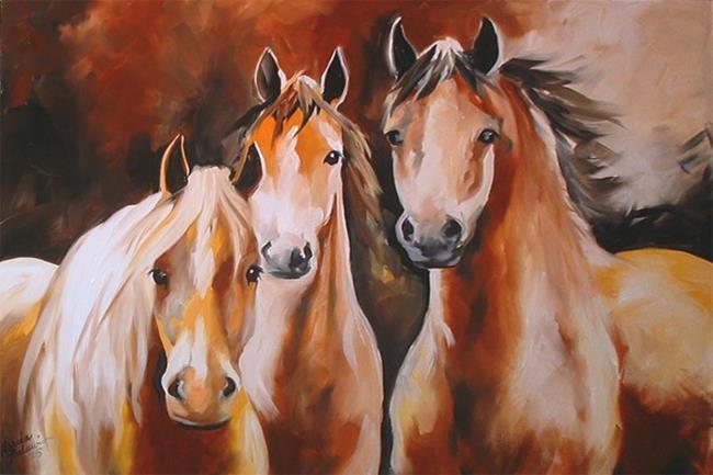 Art: MUSTANGS by Artist Marcia Baldwin