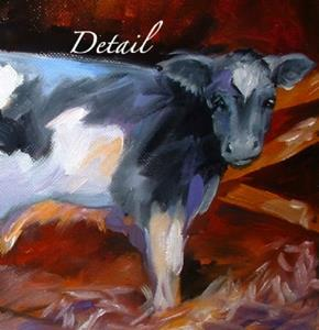 Detail Image for art A Little Cow with Heart