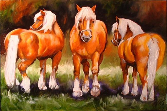 Art: THREE PALS by Artist Marcia Baldwin